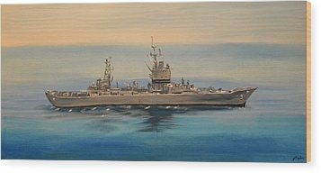 Uss Long Beach Wood Print