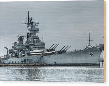 Uss New Jersey Wood Print by Jennifer Ancker