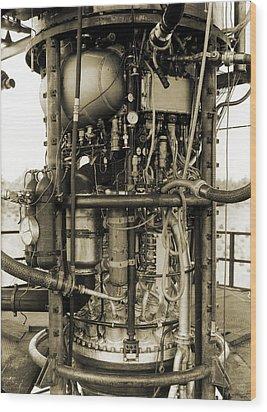 V-2 Rocket Engine Wood Print by Detlev Van Ravenswaay