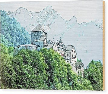 Vaduz Castle Vaduz Lichtenstein Wood Print by Joseph Hendrix