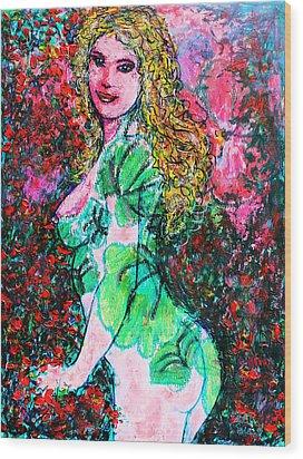 Valentina 2 Wood Print by Natalie Holland