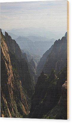 Valley In Huangshan Wood Print