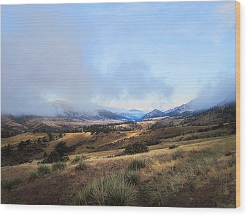 Valley Mist Wood Print by Ric Soulen