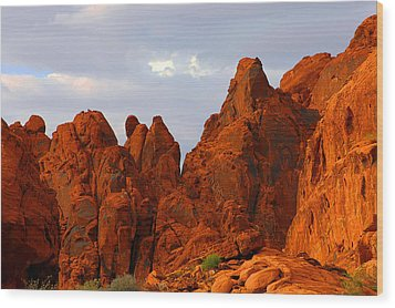 Valley Of Fire - The Landscape Burns Wood Print by Christine Till