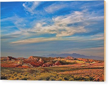 Wood Print featuring the photograph Valley Of Fire Sunset by Joe Urbz