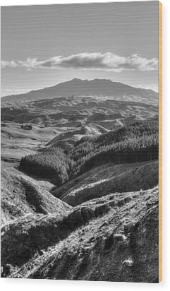Valley View Wood Print by Les Cunliffe