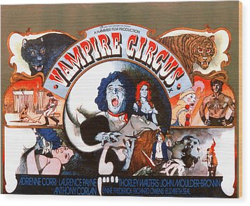Vampire Circus, Anthony Corlan Center Wood Print by Everett