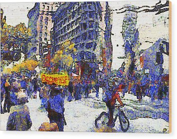 Van Gogh Occupies San Francisco . 7d9733 Wood Print by Wingsdomain Art and Photography