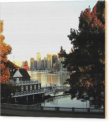 Vancouver At Sundown Wood Print by Will Borden