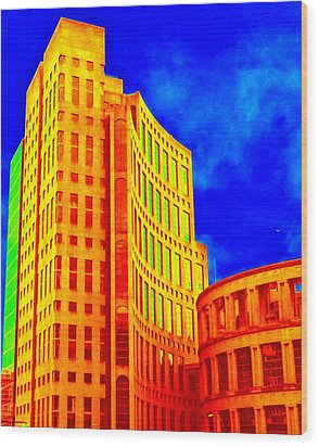 Vancouver Library 4 Wood Print by Randall Weidner