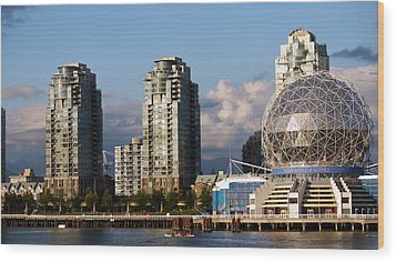 Vancouver's Science Centre Wood Print by Rae Tucker