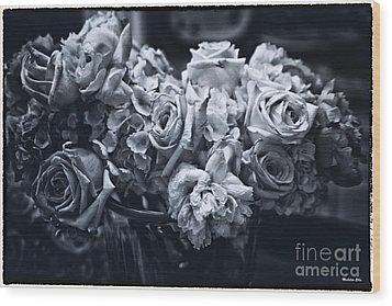 Vase Of Flowers 2 Wood Print by Madeline Ellis