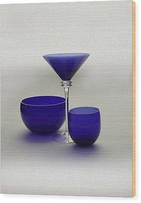 Vases Of Blue Wood Print by Gennadiy Titkov