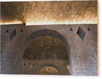 Wood Print featuring the photograph Vaulted Brick Arches by Lynn Palmer