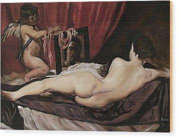 Velazquez's Venus Wood Print