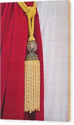 Velvet Curtain Wood Print by Tom Gowanlock