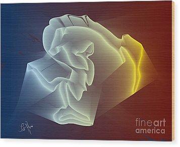 Wood Print featuring the digital art Velvet by Leo Symon