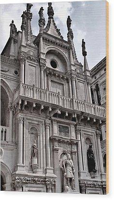 Venetian Architecture Iv Wood Print by Ellen Heaverlo