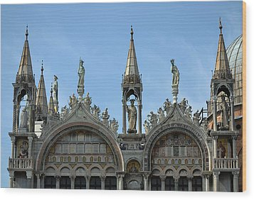Venetian Architecture. Wood Print by Terence Davis