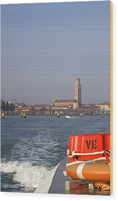 Wood Print featuring the photograph Venezia. From The Ferry To Murano. by Raffaella Lunelli
