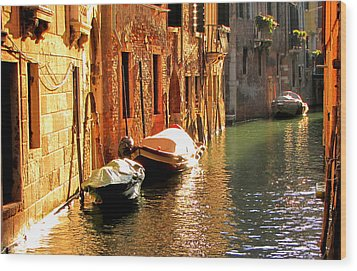Wood Print featuring the photograph Venice by Barbara Walsh