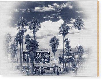 Venice Beach Haze Wood Print by John Rizzuto