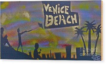 Venice Beach Life Wood Print by Tony B Conscious