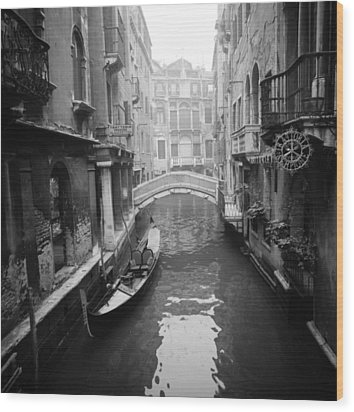 Wood Print featuring the photograph Venice Canal by Emanuel Tanjala
