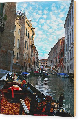 Wood Print featuring the photograph Venice Canal by Jeanne  Woods