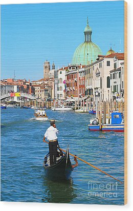 Wood Print featuring the photograph Venice Cell Phone by Jeanne  Woods