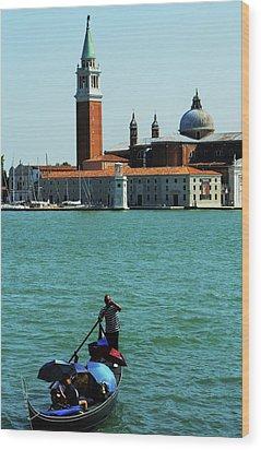 Venice Gandola Wood Print