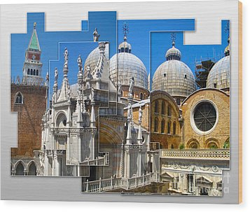 Venice Italy - Cathedral Basilica Of Saint Mark Wood Print by Gregory Dyer