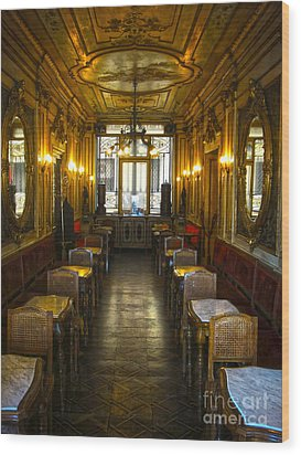 Venice Italy - Tea Room Wood Print by Gregory Dyer