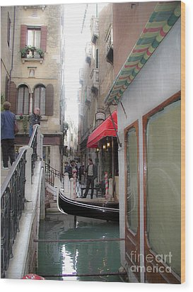 Wood Print featuring the photograph Venice by Leslie Hunziker