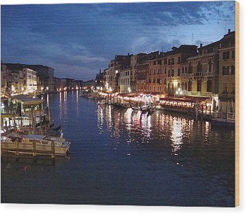 Wood Print featuring the photograph Venice by Marta Cavazos-Hernandez