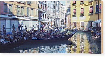 Venice Waiting  Wood Print