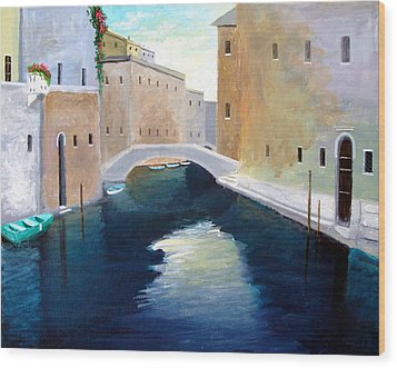 Venice Water Dance  Wood Print by Larry Cirigliano