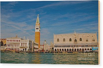 Wood Print featuring the photograph Venice's Front Door by Eric Tressler