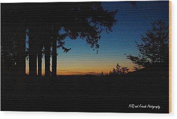 'ventana Sunset' Wood Print by PJQandFriends Photography