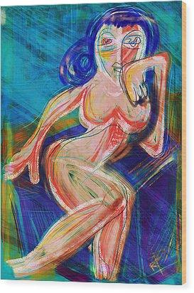 Venus Wood Print by Russell Pierce