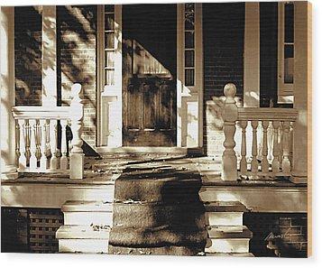 Veranda Wood Print by The Art of Marsha Charlebois
