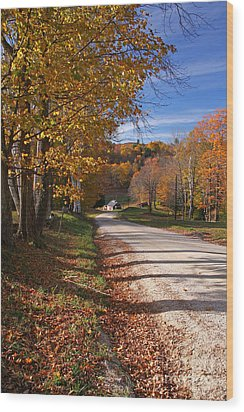 Vermont Sugar House Wood Print by Butch Lombardi