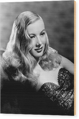 Veronica Lake Portrait, Featuring Wood Print by Everett