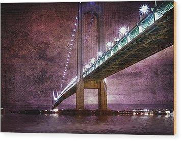 Verrazano-narrows Bridge03 Wood Print by Svetlana Sewell