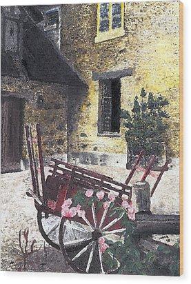 Versailles Peasant Village Wood Print by Inger Hutton