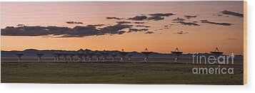 Very Large Array Panorama Wood Print by Matt Tilghman