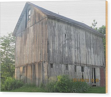 Wood Print featuring the photograph Very Old Barn by Tina M Wenger