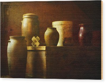Vessels Wood Print by Sue Henry