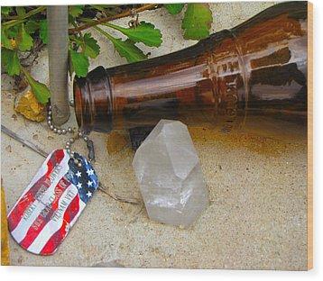 Veteran Remembered Wood Print by Feva  Fotos