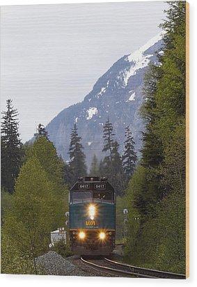 Via Rail Canada Wood Print by Sylvia Hart
